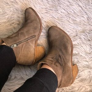 All Saints Suede Ankle Booties sz 9